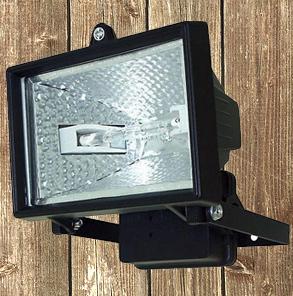 Electric Security Light with Motion Sensor Halogen not Solar Garden Drive Garage