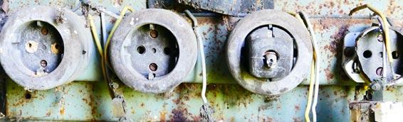 row of broken sockets