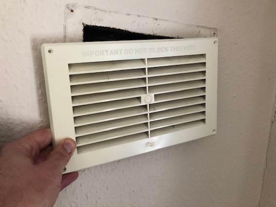 extractor fan in wall