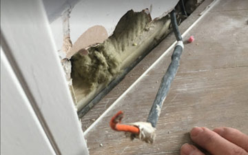 wire cut off in skirting board